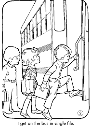 Small Picture School Bus Safety Coloring Pages bus safety Pinterest Bus