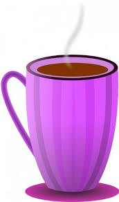 hot chocolate mug clipart. publicdomainvectors.org-purple tea mug vector image. color illustration of striped coffee hot chocolate clipart