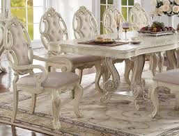 dining room table set firenza antique white arm chair