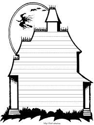 writing paper halloween theme haunted house printable writing paper halloween theme haunted house printable activities