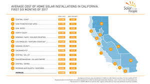 solar cell cost. Unique Solar Average Cost Of Home Solar In California U2013 First Six Months 2017 By  Region Throughout Cell V