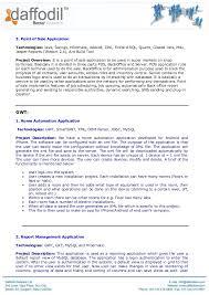 Corporate Resume Daffodil Software