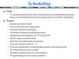 scheduling goal topics ppt  scheduling goal topics