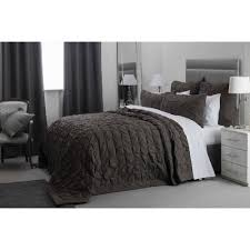 100 cotton bedspread in charcoal grey 260cm x 260cm