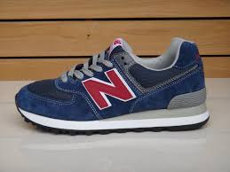 new balance shoes red and blue. new balance ml574nno japan lovers men shoes style ink blue orange red and s