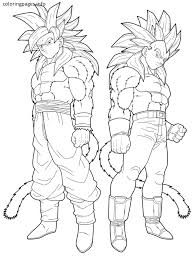 Small Picture ssj4 goku coloring pages Coloring Pages Pinterest Goku Free