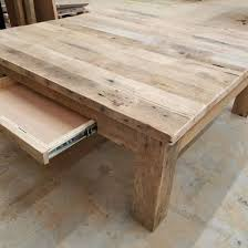 reclaimed barnwood square coffee table