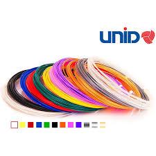 <b>Набор</b> пластика <b>UNID</b> для <b>3D ручек</b> 10 м 12 цветов в коробке PLA ...