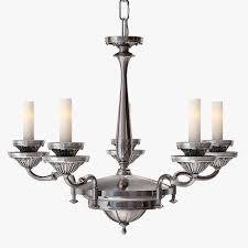 remains lighting silverplate chandelier 3d model max obj fbx mtl 5