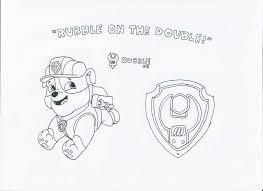 Paw Patrol Da Colorare Rubble The Gallery For Paw Patrol Chase