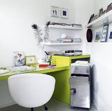Futuristic Office Furniture Modern Home Office Decoration And Organization Ideas With White Interior Color Plus Green Work The Container Store 15 Interesting Work Desk Ideas You Can Try Applying Keribrownhomes