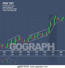 Vector Art Stock Market Graph Of Growth Trend Clipart