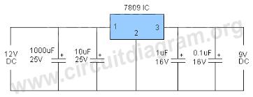 12v to 9v converter circuit diagram