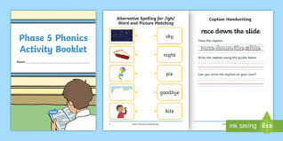 Share this page to google classroom. Phase 5 Phonics Letters And Sounds Activity Booklet