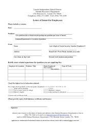 Letter Of Intent For Employment Template Download Sample Letter