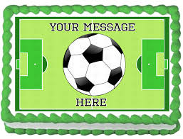 Edible Soccer Ball Cake Decorations BOYS SOCCER BALL Edible image Cake Topper Unbranded Nice Cake 4