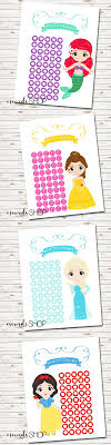 Princess Potty Chart Cs Cards Disney Princess Potty Charts