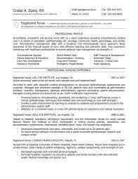 Graduate Nurse Resume Examples Template With Registered Nurse Usc