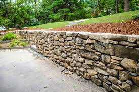 stacked stone wall american