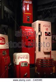 History Of Vending Machines Gorgeous Coca Cola Drink Vending Machine In An Airport In The Uk Stock Photo