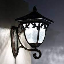 elegant outdoor solar wall mount light