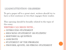 good attention grabbers for essays co good