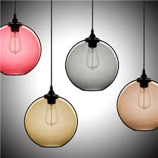 glass pendant shades. (In Stock) Ceiling Lights Modern Minimalist Glass Pendant Light Globe With 1 Dining Shades C