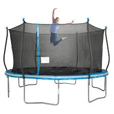 Bounce Pro 12 Trampoline With Flash Light Zone And Enclosure Trampolines Hotoffersmall Com