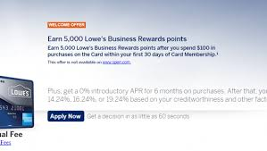 Lowes Commercial Credit Card Application American Express Lowes Business Rewards Card Review 5 Off Lowes