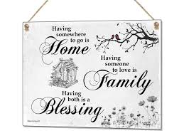 Small Picture Home Family Blessing Metal Sign Tin Plaque Quote Wall Art Decor