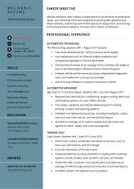 Employee Of The Month Write Ups Mechanic Resume Example Writing Tips Resume Genius