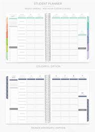 weekly student planners best weekly planners for under 50 roundup all about planners