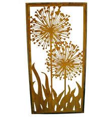 Edelrost Sichtschutz Wand Allium Paravent