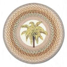 palm tree natural braided jute rug round capitol earth rugs chair pads