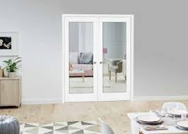 white double door. White P10 Glazed Internal French Doors Double Door