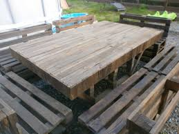 outdoor pallet deck furniture. massive outdoor garden set made with pallets in pallet furniture project diy ideas table chair bench deck