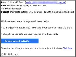 Phishing Scam Dont Fall For This Email Quota Limit Phishing Scam