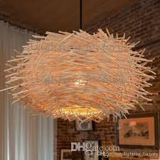 rattan pendant lighting. Creative Nest Light Rattan Woven Pendant Retro Lamp Living Room Bedroom Restaurant Country Original/Brown Color Hanging Lights Lighting