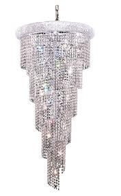 elegant lighting v1801sr22c rc 1801 spiral collection chandelier d 22in h 48in lt