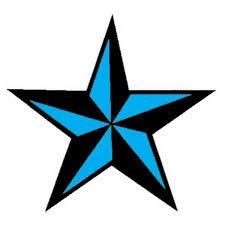 Nautical Star Designs Black And Blue Ink Nautical Star Tattoo Design