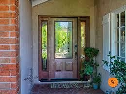 exterior glass panel door