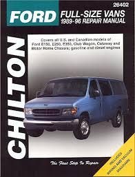 ford econoline van repair manual by chilton 1989 1996