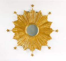 carvers guild starburst wall mirror in gold