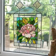 stain glass window panel stain glass flower stain glass wind