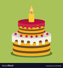 Flat Birthday Cake Designs Birthday Cake Sweet Cupcakes Cartoon Flat Design