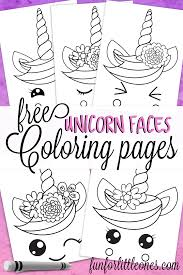 These free printable unicorn coloring pages are super sweet and fun for unicorn fans of all ages! Unicorn Faces Coloring Pages For Kids Fun For Little Ones