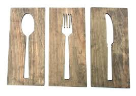 spoon wall decor overemphasized and fork y giant wooden big beautiful wa
