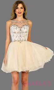 Light Pink Graduation Dress Short High Neck Light Pink Puffy Grade 8 Grad Dress Or