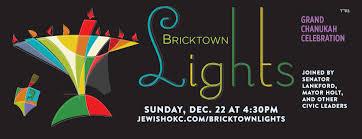 James Lighting Oklahoma City Ok Bricktown Lights Chanukah Celebration Downtown Okc