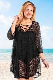 plus size cover up cover up crochet lace up coverup by always for me